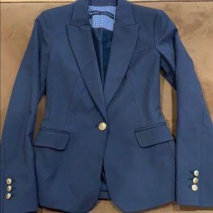 ZARA Dark Blue Blazer with Gold Buttons XS